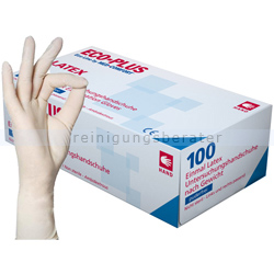Einmalhandschuhe aus Latex Ampri Eco-Plus weiß XL