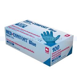 Einmalhandschuhe aus Latex Ampri Med Comfort Blue blau L