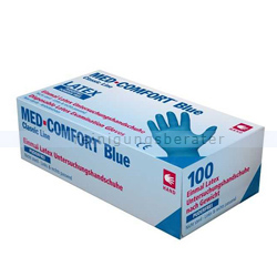 Einmalhandschuhe aus Latex Ampri Med Comfort Blue blau S