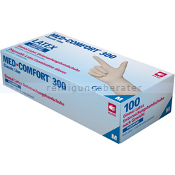 Einmalhandschuhe aus Latex Ampri MED Comfort weiß 300 M