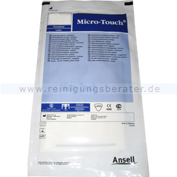 Einmalhandschuhe aus Latex Ansell Micro Touch, steril weiß L