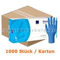Einmalhandschuhe aus Nitril Abena 30 cm lang blau L Karton