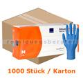 Einmalhandschuhe aus Nitril Abena 30 cm lang blau M Karton