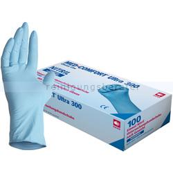 Einmalhandschuhe aus Nitril Ampri Med-Comfort Ultra 300 blau XXL