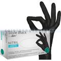 Einmalhandschuhe aus Nitril Ampri Style Black S