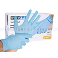 Einmalhandschuhe aus Nitril Hygostar Safe Light blau M