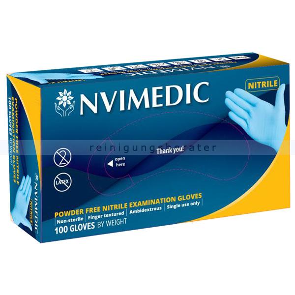 Einmalhandschuhe aus Nitril NVIMEDIC blau M