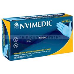 Einmalhandschuhe aus Nitril NVIMEDIC blau XL