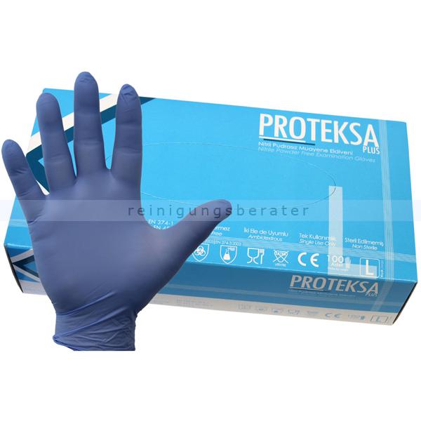 Einmalhandschuhe aus Nitril Proteksa blau L