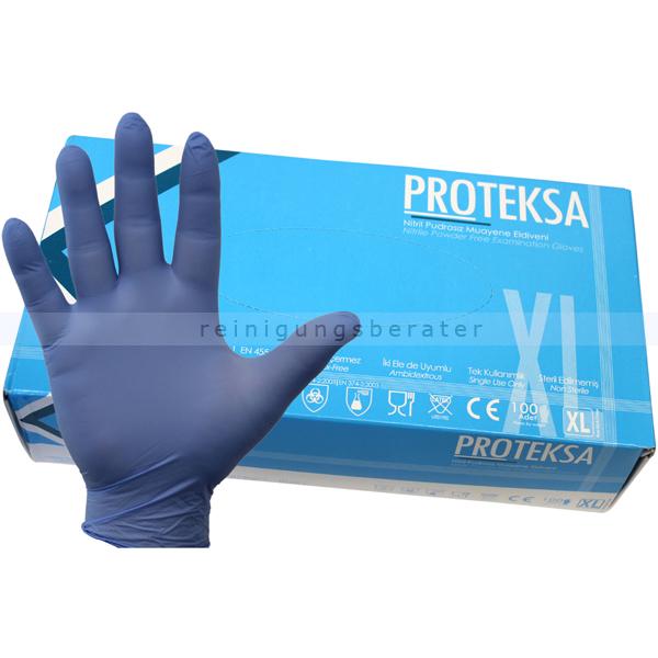 reinigungsberater Nitrilhandschuhe Proteksa blau XL Gr.10, puderfrei, untsterile Nitrilhandschuhe, 100 Stück/Box ProteksaXL