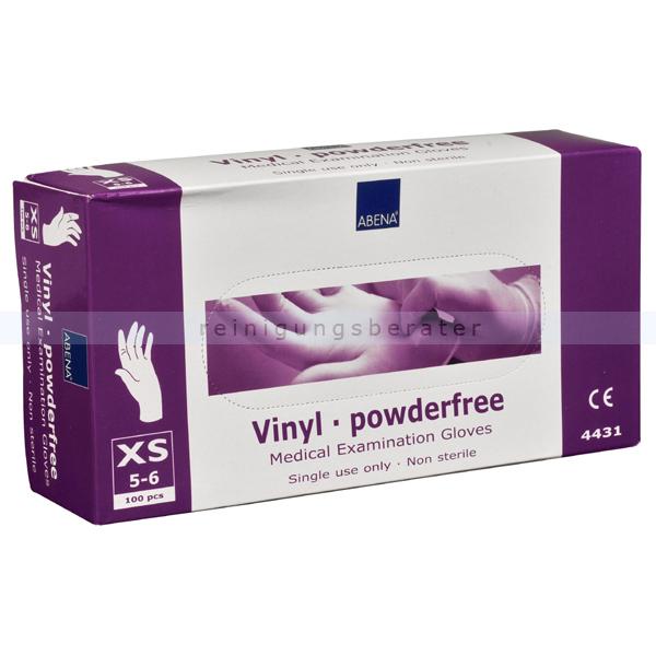 Einmalhandschuhe aus Vinyl Abena transparent XS