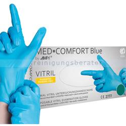 Einmalhandschuhe aus Vitril Ampri Vinyl Nitril blau M