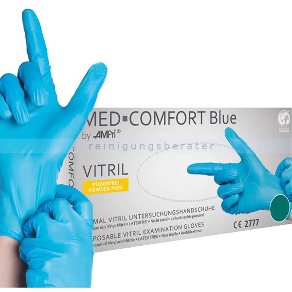 Einmalhandschuhe aus Vitril Ampri Vinyl Nitril blau XL