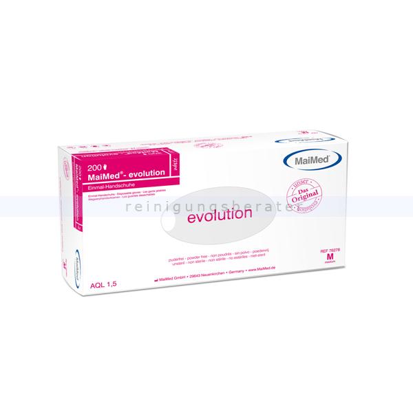 Lebensmittelhandschuhe TPE MaiMed Evolution white Größe M 200 Stück Polyethylen-Lebensmittelhandschuhe 76278