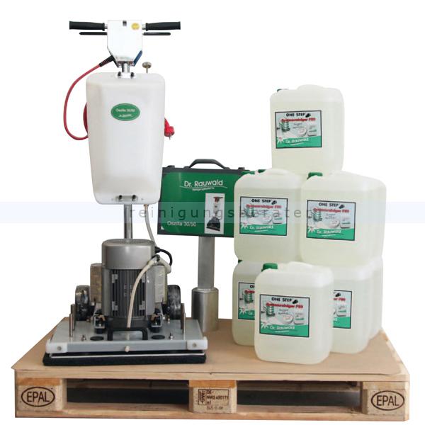 Dr. Rauwald Oszilla 30-50 Exzentermaschine inkl. 100 Liter One Step F50 zuverlässige und langlebige Exzenter Reinigungsmaschine 9.800.071+10x 4665