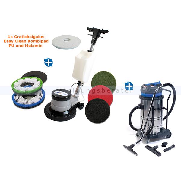 Clean Track CT 17 GR Set 4 Einscheibenmaschine Setangebote mit Nass- und Trockensauger Clean Track VacLine 70 L 890892.000000