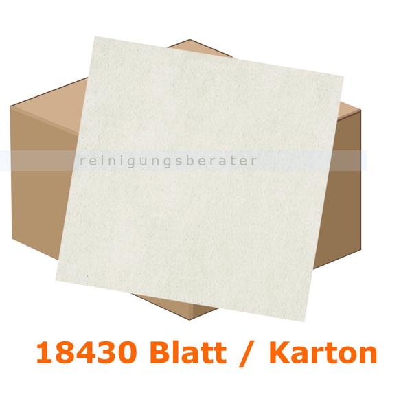 Einschlagpapier Abena gebleicht 17 x 21 cm weiß, Karton 18430 Stück je Karton, fettundurchlässiges Verpackungspapier 11226
