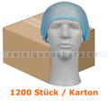 Einweghaube Abena Haarnetz Classic Vliesstoff blau Karton