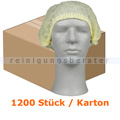 Einweghaube Abena Haarnetz Classic Vliesstoff gelb Karton