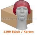 Einweghaube Abena Haarnetz Classic Vliesstoff rot Karton