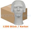 Einweghaube Abena Haarnetz Classic Vliesstoff weiß Karton
