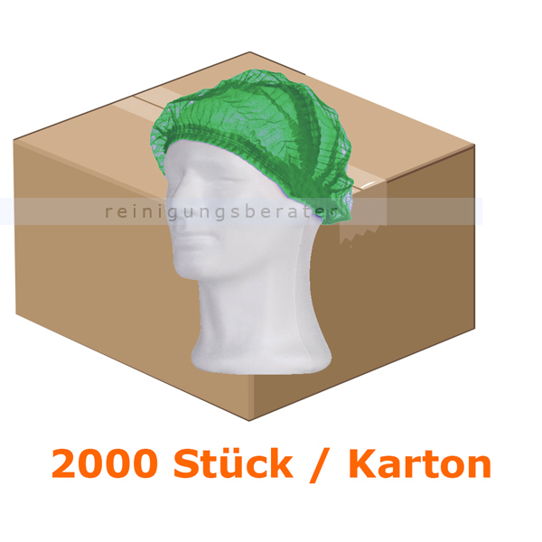 Einweghaube Ampri Klipphaube PP Eco Plus grün M