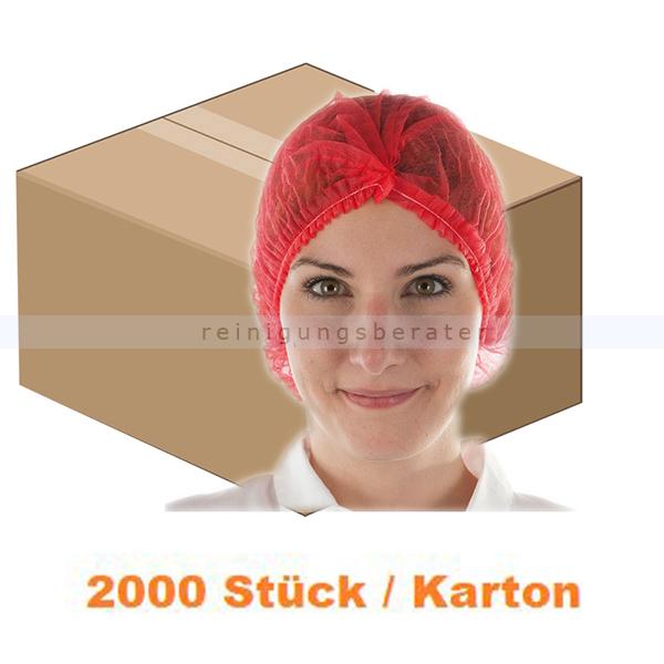 Einweghaube Hygonorm Klipphaube Eco PP-Vlies rot