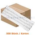 Einwegmop Mopptex Flexi Mikrofaser weiß 50 cm Karton