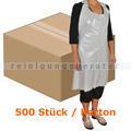 Einwegschürze Abena Block 18 my weiß 75 x 125 cm Karton