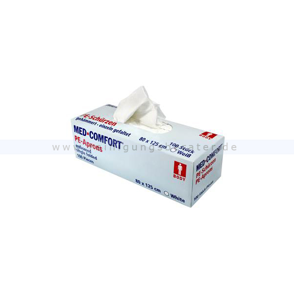 Einwegschürze Ampri Med Comfort 800 x 1250 mm weiß