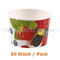 Einwegschüssel Hygostar Eisbecher Pappe 200 ml 50 Stück