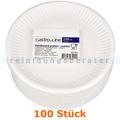 Einwegteller, flacher Teller aus Pappe rund Ø 18 cm 100 Stück