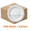 Einwegteller NatureStar BIO Pappe rund Ø 230 mm 500 Stück