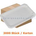 Einwegteller, Pappteller eckig 10,5 x 16,5 cm Karton