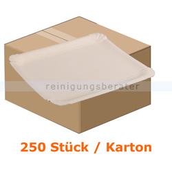 Einwegteller, Pappteller rechteckig 24,5x34 cm 250 Stück