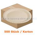 Einwegteller, Pappteller rund Ø 23 cm weiß 500 Stück