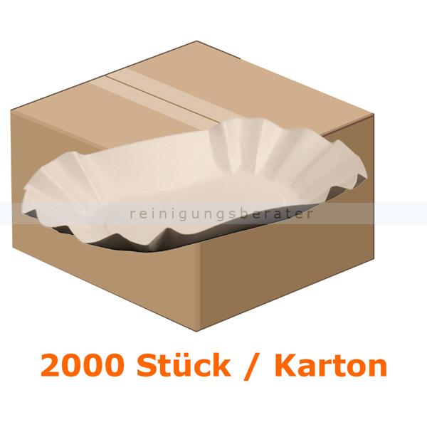 Einwegteller rechteckig 10,5x17,5x3 cm 2000 Stück