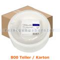 Einwegteller, tiefer Teller aus PAPPE Ø 18 cm, 800 Stück