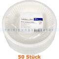 Einwegteller, tiefer Teller aus PAPPE Ø 19 cm, 50 Stück