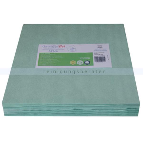 Oberflächentücher ClaraClean Go! SX 120 grün 33x33 cm 20 VE x 50 Oberflächentücher, unbeladen 152090V