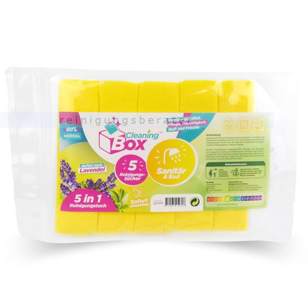 Einwegtücher CleaningBox 5-in-1 Sanitär & Bad 5 Stück