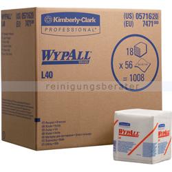 Einwegtücher Kimberly Clark Wypall L40 viertelgefaltet, weiß