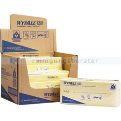 Einwegtücher Kimberly Clark Wypall X50 gelb, interfold
