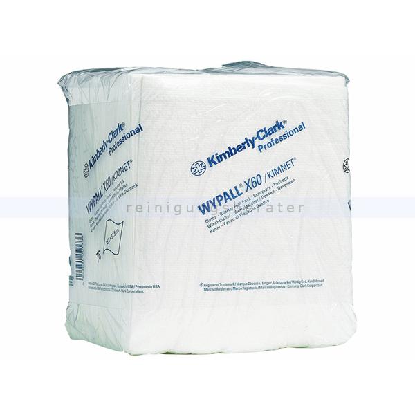 Einwegtücher Kimberly Clark WYPALL X60 viertelgefaltet, weiß
