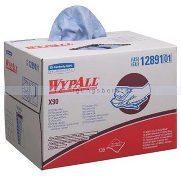Einwegtücher Kimberly Clark Wypall X90 Hydroknit, weiß