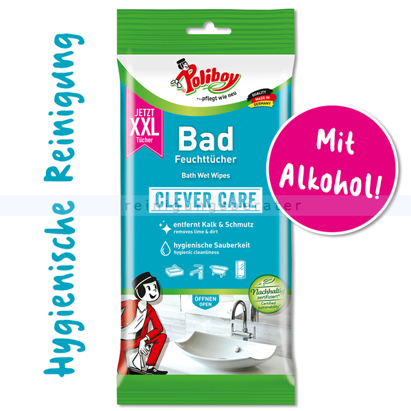 Einwegtücher Poliboy XXL Bad Feuchttücher 24 Tücher die POLIBOY Bad Feuchttücher sind ideal für alle Oberflächen 5304810