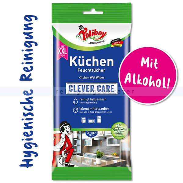 Einwegtücher Poliboy XXL Küchen Feuchttücher 24 Tücher
