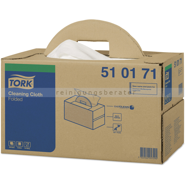 Einwegtücher Tork Reinigungstücher Vliesstoff 38x42cm weiß