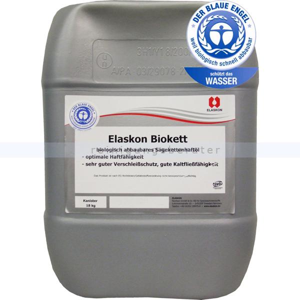 ELASKON Biokett biologisches Sägekettenhaftöl 19,5 L schützt Motorsägen vor Verschleiß und Korrosion