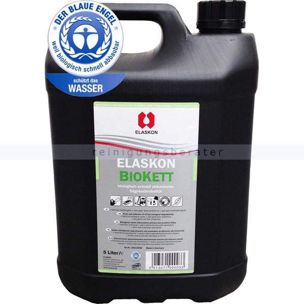 ELASKON Biokett biologisches Sägekettenhaftöl 5 L schützt Motorsägen vor Verschleiß und Korrosion
